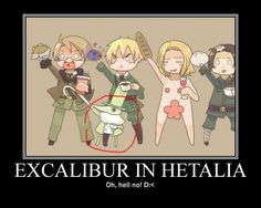 Excalibur from Soul Eater invades Hetalia.