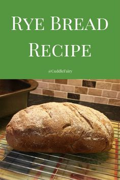 Rye Bread Recipe Need to try this again - need to use x 1.25 from fast to active dry yeast