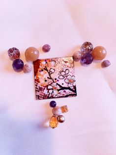Make your own necklace with this Cherry Blossom Kit, starting at $9 in the Supplies auction now!