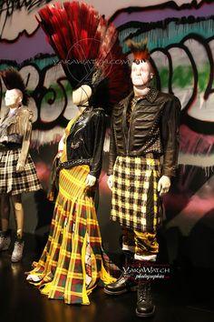 """Punk Cancan """"Les Punks"""" - Exposition Jean Paul Gaultier - Grand Palais - Paris- that skirt!"""