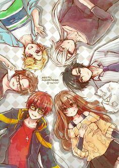 707, MC, Jumin, Zen, Yoosung, Jaehee, Elizabeth the Third, text; Mystic Messenger
