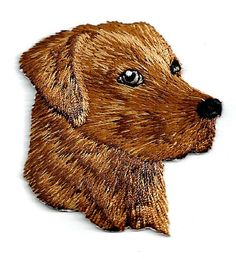 Brown Labrador Dog Head Fully Embroidered Patch #Unbranded