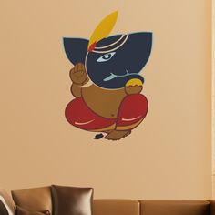 A beautiful Ganesha wall-sticker for the holy space inside your homes. Get more Ganesha products and other beautiful home decor products on www.gloob.in