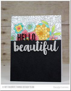 Bundles of Blossoms Background, Hello Beautiful Die-namics - Karolyn Loncon  #mftstamps