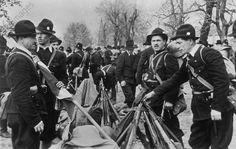 Ustase militia in Banja Luka after the German victory in Yugoslavia, c. 1941.