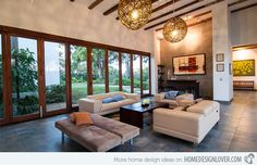 15 Living Rooms with Exposed Beams