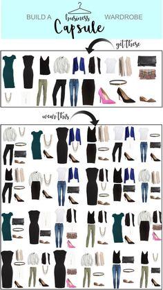 Capsule Wardrobe – Business – Just Posted #wardrobeclassics #classiccollections #capsulewardrobe #lookbook