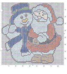 SNOWMAN AND SANTA CLAUS - WALL HANGING