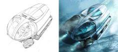 High Angle of SnoCat by Tim Hansz | Sci-Fi | 2D | CGSociety