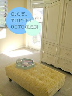 Gorgeous tufted Ottoman! by Junk in the Trunk :)