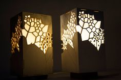 Geometrical Inspiring Lamp  Mariam Ayvazyan is a designer based in Armenia. Among her creations she imagined lamps. One of her artworks called ENDLESS is a lamp with geometrical aspects that is inspired by the triangulation concept theorized by Delaunay. This creation reminds Japanese lamps through cuttings that are made in the wood that spread the light.          #xemtvhay