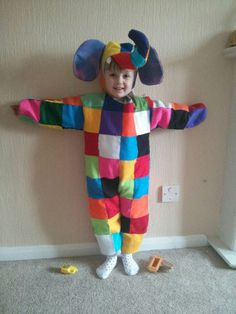 World Book Day Elmer the Patchwork Elephant costume inspiration via Beccy Hol Literary Costumes, Book Costumes, World Book Day Costumes, Book Week Costume, Literary Characters, Costume Ideas, Book Characters Dress Up, Character Dress Up, Book Character Day