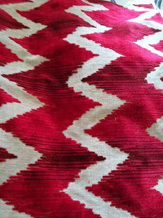 AERIN for Lee Jofa -vibrant red chevron