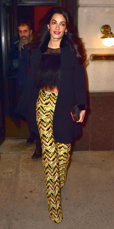 8 Times Celebrities Got Groovy with the '70s Trend - Amal Clooney from #InStyle