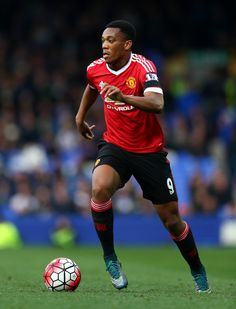 Anthony Martial of Manchester United in action during the Barclays Premier League match between Everton and Manchester United at Goodison Park on October 17, 2015 in Liverpool, England. (Oct. 16, 2015 - Source: Clive Brunskill/Getty Images Europe)