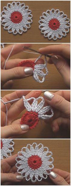 Crochet Flower Motif Tutorial