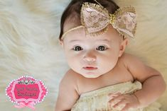 Rustic twine Halo/Tie Back Headband with Burlap and Lace Bow, Newborn Tieback, Burlap Twine Bow, Baby, Girl, Headband, Tan, Photography Prop