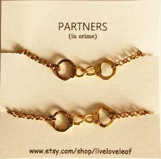 Partners in crime matching Best Friends Bracelets  by LiveLoveLeaf, $28.00