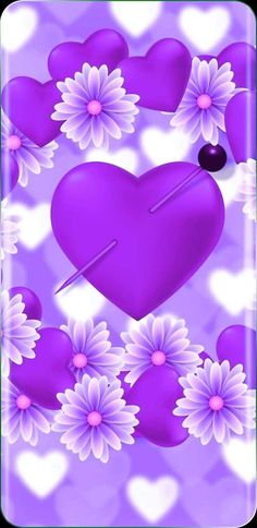 Colorful, Wallpaper, My Love, Purple, Wallpapers, Heart, Viola