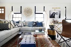 Spotted: The Peggy Sectional in this Bohemian living room