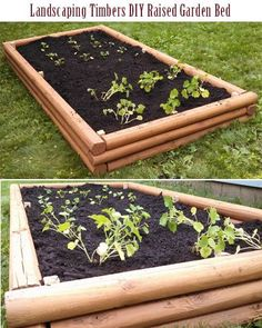Landscaping Timbers DIY Raised Garden Bed