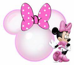 Siluetas de la cabeza de Minnie 2.