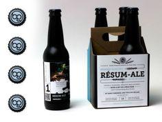 Résum-Ale, beer and packaging curriculum vitae by designer Brennan Gleason.
