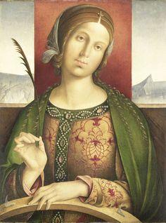Saint Catherine of Alexandria, attributed to Francesco Zaganelli di Bosio, 1500 - 1530