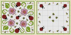 Spring biscornu pattern ... no color chart available, just use pattern chart as your color guide.. or choose your own colors...