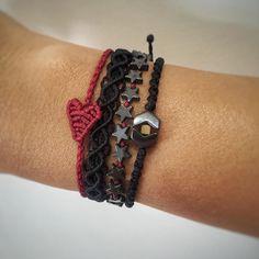 ❤️ #jewelicious_lovemade #handmadejewelry #macrame #armcandy #semipreciousstones #bohochic #boho #heart #stars #infinity #jewelry