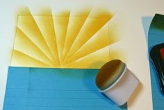 How to make a sunburst pattern with ink and a sponge dauber