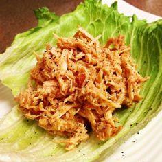 Dukantopia | Dukan Diet Recipes - shredded chicken lettuce wraps