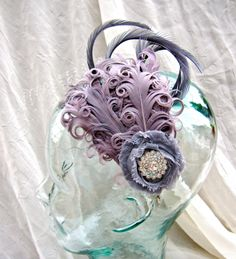 Bridal Fancy Hair Fascinator by FemaleArtCollective on Etsy, $49.00