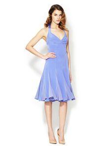Silk Halter Flutter Skirted Dress by Zac Posen at Gilt
