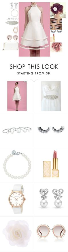 """""""Pure white outfit"""" by ynessica ❤ liked on Polyvore featuring Vince Camuto, Tiffany & Co., Tory Burch, Marc by Marc Jacobs, Bling Jewelry, Accessorize, Chloé and Trina Turk"""
