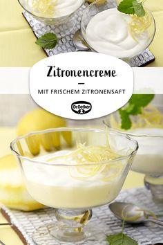 Zitronencreme Lemon cream: A dessert with lemon juice for many occasions Italian Cookie Recipes, Italian Desserts, Lemon Desserts, Healthy Dessert Recipes, Christmas Desserts, Cake Recipes, Vegan Appetizers, Holiday Appetizers, Holiday Recipes