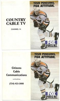 1999-2000 Pittsburgh Penguins Jagr Fox Sports Country Cable TV Hockey Schedule