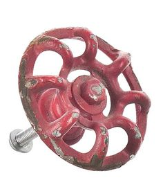 Loving this Red Valve Drawer Pull on #zulily! #zulilyfinds