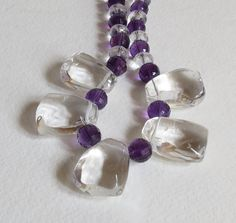 Stunning Necklace with Quartz Amethyst and by Smokeylady54 on Etsy http://fancytemplestore.com