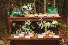 A hot cocoa bar is the perfect compliment to your cake or desert bar for your winter wedding!