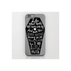 Life Asked Death... iPhone & iPod Case ($35) ❤ liked on Polyvore featuring accessories, tech accessories, phone cases, phone and tech