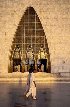Resting place of Mohammad Ali Jinnah founder of Pakistan at Karachi