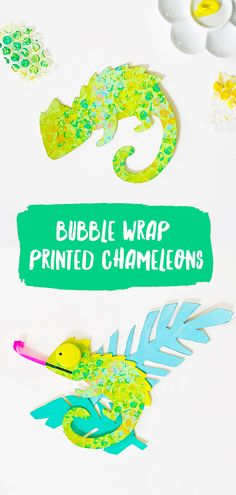 Create a variety of colorful chameleon kids crafts with simple recycled supplies (free templates included!)