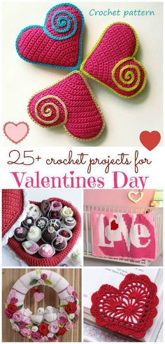 Crochet Flower Patterns valentines day crochet patterns - valentine crochet patterns 25 projects here. There is still time to crochet something to celebrate love and all things romantic for Valentines Day. Unique Crochet, Love Crochet, Crochet Gifts, Crochet Yarn, Crochet Puff Flower, Crochet Flower Patterns, Crochet Flowers, Crochet Hearts, Valentine Crafts