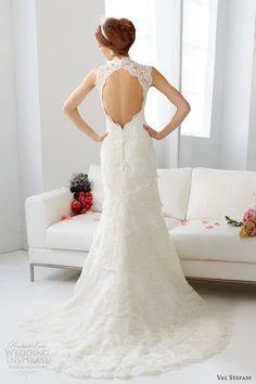 val stefani fall 2013 bridal sleeveless mermaid wedding dress d8046 keyhole back