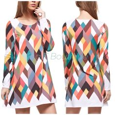 "SALE   Geometric tunic dress Multi Color Geometric Print Long Sleeves Dress Fabric 95%POLYESTER 5%SPANDEX Made in U.S.A. Available in size Sm(2-4) .   TK1358300.   LENGTH: 33"" from top of shoulder to bottom hem. BUST: 16"" Across from armpit to armpit 2 a T Boutique  Dresses Mini"