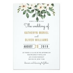 Elegant Floral Garden Wedding invitation