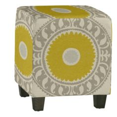 Upholstered cube...wish this had storage!