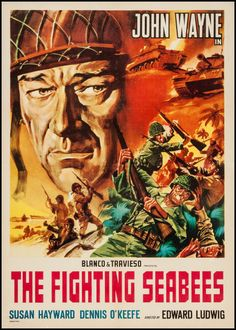 Movie Posters:War, The Fighting Seabees (Republic, R-1950s). Italian ... Image #1
