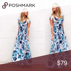 S-L Stunning floral Maxi stunning floral Maxi dress! Mackenzie is in the small, made in USA Dresses Maxi